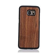 Voor Patroon hoesje Achterkantje hoesje Effen kleur Hard Hout voor Samsung S7 edge S7