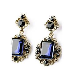 tanie Biżuteria damska-Kolczyki wiszące Syntetyczny Sapphire Synthetic Emerald Syntetyczne kamienie szlachetne Szmaragdowy Biżuteria Na Ślub Impreza