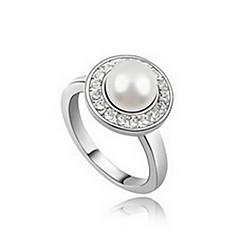 Dames Ring Natuur Parel Imitatieparel Leder Gouden Parel Zwarte parel Legering Sieraden Voor Dagelijks