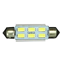Недорогие Освещение салона авто-SO.K T11 Лампы 3 W SMD 5730 250 lm Светодиодная лампа Внутреннее освещение