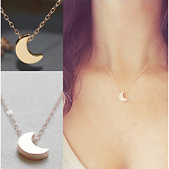 Women's Pendant Necklaces Jewelry Moon Alloy Unique Design Dangling Style Multi-ways Wear Costume Jewelry Jewelry For Birthday Engagement