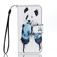 Для Бумажник для карт Кошелек со стендом Флип С узором Кейс для Чехол Кейс для Животный принт Твердый Искусственная кожа для AppleiPhone