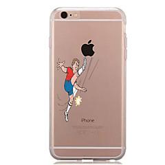 Для Прозрачный С узором Кейс для Задняя крышка Кейс для Композиция с логотипом Apple Мягкий TPU для AppleiPhone 7 Plus iPhone 7 iPhone 6s