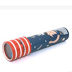 万華鏡 趣味&レジャーグッズ おもちゃ アイデアジュェリー 円筒形 ペーパー シルバー グリーン 男の子向け 女の子向け