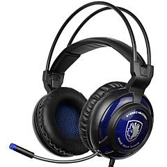 sades SA-805 3,5 мм игровые гарнитуры с шумоподавления микрофона музыка наушников черно-синий для PS4 ноутбук ПК мобильных телефонов