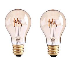 お買い得  LED 電球-1個 3.5 W 400 lm B22 / E26 / E27 フィラメントタイプLED電球 G60 1 LEDビーズ COB 調光可能 温白色 220-240 V / 110-130 V / 2個 / RoHs