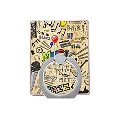 musiikkikuvio muovinen rengaspidike / 360 pyörivä matkapuhelimelle iphone 8 7 samsung galaxy s8 s7