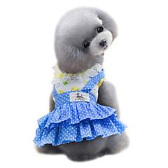 お買い得  犬用ウェア&アクセサリー-犬 ドレス 犬用ウェア 水玉 / 波点 イエロー / ブルー コットン コスチューム ペット用 夏 女性用 ファッション