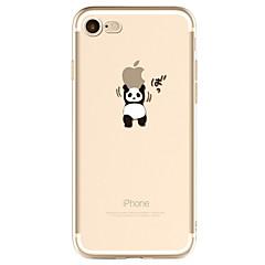 Kompatibilitás iPhone X iPhone 8 iPhone 7 iPhone 6 iPhone 5 tok tokok Minta Hátlap Case Apple logo Panda Puha Hőre lágyuló poliuretán mert