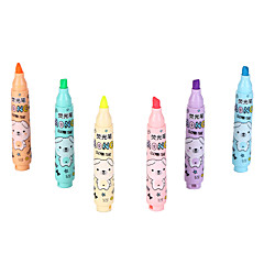 Highlighters 6 Colors Ink 1 Set of 6 PCS