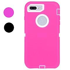 Назначение iPhone X iPhone 8 iPhone 8 Plus Чехлы панели Защита от удара Защита от влаги Чехол Кейс для Сплошной цвет Мягкий Резина для