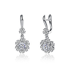 Χαμηλού Κόστους Γυναικεία Κοσμήματα-Κρεμαστά Σκουλαρίκια Μοναδικό Κρεμαστό Ασήμι Στερλίνας Ζιρκονίτης Επιμεταλλωμένο με Πλατίνα Κοσμήματα ΓιαΓενέθλια Καθημερινά Causal