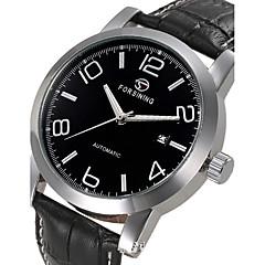 Heren Sporthorloge Dress horloge Skeleton horloge Modieus horloge Polshorloge mechanische horloges Automatisch opwindmechanisme Echt leer