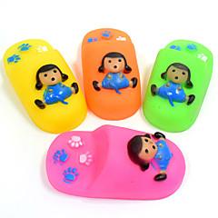 لعبة للكلب ألعاب الحيوانات الأليفة لعب المضغ لعبة تنظيف الأسنان كارتون صرير مضاعف أحذية سيليكون للحيوانات الأليفة