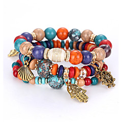 Women's Strand Bracelet Natural Balance of the Power Costume Jewelry Fashion Beaded Multi Layer Personalized Acrylic Ball Jewelry For