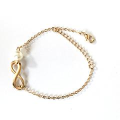 preiswerte Armbänder-Damen Perle Ketten- & Glieder-Armbänder - Perle Unendlichkeit Böhmische, Grundlegend, Simple Style Armbänder Gold / Silber Für Weihnachts Geschenke Hochzeit Party