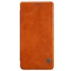 Mert Kártyatartó Automatikus készenlét/ébresztés Flip Case Teljes védelem Case Egyszínű Kemény Műbőr mert OnePlus One Plus 3 One Plus 3T
