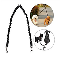 Dog Leash Hands Free Leash Adjustable / Retractable Reflective Safety Running Solid Rubber Nylon Black Red Blue