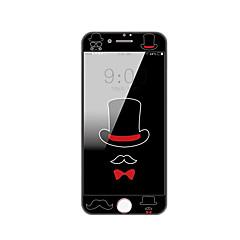 Недорогие Защитные пленки для iPhone 7-Защитная плёнка для экрана Apple для iPhone 7 Закаленное стекло 1 ед. Защитная пленка на всё устройство Узор 2.5D закругленные углы