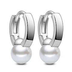Kolczyki koła Biżuteria Pearl imitacja biżuteria kostiumowa Srebro standardowe Biżuteria Na Ślub Impreza Codzienny Casual