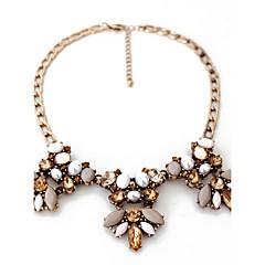 お買い得  ネックレス-女性用 ステートメントネックレス  -  真珠 オリジナル, ぜいたく, 欧風, ファッション Brown ネックレス ジュエリー 用途 パーティー, 婚約 / ジェムストーン