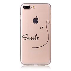 Käyttötarkoitus iPhone X iPhone 8 kotelot kuoret Kuvio Takakuori Etui Sana / lause Pehmeä TPU varten Apple iPhone X iPhone 8 Plus iPhone