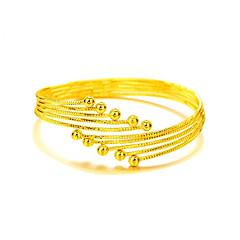 Браслет цельное кольцо Природа Мода Богемия Стиль Регулируется Открытые Медь Позолота 24K Plated Gold Круглой формы Бижутерия Назначение