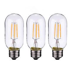 お買い得  LED 電球-ONDENN 3本 4 W 500-600 lm B22 / E26 / E27 フィラメントタイプLED電球 4 LEDビーズ COB 調光可能 温白色 220-240 V / 110-130 V / 3個 / RoHs / CE