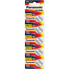Panasonic CR2016 Lithium Ion Lithium Battery 3V 5 Pack