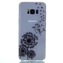 olcso Galaxy S3 tokok-Case Kompatibilitás Samsung Galaxy S8 Plus S8 Foszforeszkáló Minta Fekete tok Pitypang Puha TPU mert S8 Plus S8 S7 edge S7 S6 edge plus