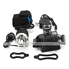 お買い得  ヘッドランプ-U'King ヘッドランプ LED 2000 lm 3 照明モード バッテリー&チャージャー付き ハイパワー / コンパクトデザイン / 多機能 キャンプ / ハイキング / ケイビング / 日常使用 / サイクリング
