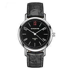 Hombre Reloj Deportivo Reloj de Moda Cuarzo Resistente al Agua Piel Banda Cool Casual Negro Marrón