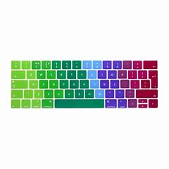 お買い得  MAC 用キーボード カバー-xskn®ヨーロッパ英語カラフルなシリコーンキーボードの皮とタッチバー網膜と13.3 / 15.4プロ2016の最新のMacBook用touchbarプロテクター