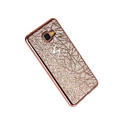 For Belægning Etui Bagcover Etui Glitterskin Blødt TPU for Samsung A3 (2017) A5 (2017) A7 (2017) A7(2016) A5(2016) A3(2016) A5