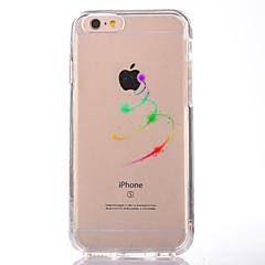 Недорогие Кейсы для iPhone 7-Кейс для Назначение Apple iPhone 7 Plus iPhone 7 Прозрачный С узором Кейс на заднюю панель Композиция с логотипом Apple Мягкий ТПУ для