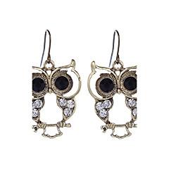 Damskie Kolczyki wiszące Biżuteria Postarzane biżuteria kostiumowa Stop Sowa Biżuteria Na Impreza Codzienny Casual