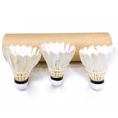 3pcs bádminton volantes Volantes de plumas Duradero para Pluma de Ganso