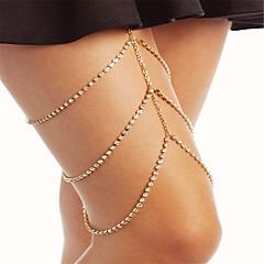 Naisten Kehokorut Jalkaketju Muoti pukukorut Tekojalokivi Geometric Shape Korut Käyttötarkoitus Party Erikoistilaisuus