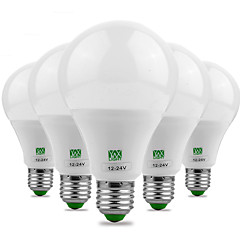YWXLight® 9W E26/E27 LED Globe Bulbs 18 SMD 5730 700-850 lm Warm White Cold White Decorative DC 12 AC 12 AC 24 DC 24 V 5pcs