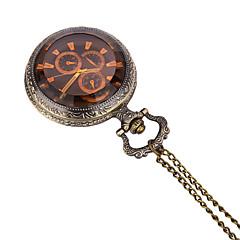 preiswerte Herrenuhren-JUBAOLI Herrn Taschenuhr Quartz Bronze Armbanduhren für den Alltag / Analog Freizeit - Bronze Ein Jahr Batterielebensdauer / SSUO LR626