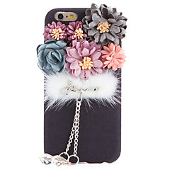 Voor Strass DHZ hoesje Achterkantje hoesje Bloem Zacht Textiel voor Apple iPhone 7 Plus iPhone 7 iPhone 6s Plus/6 Plus iPhone 6s/6