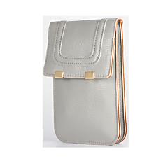 Недорогие Универсальные чехлы и сумочки-Кейс для Назначение универсальный Другое Кошелек Защита от удара Мешочек Сплошной цвет Твердый Кожа PU для