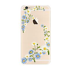 Недорогие Кейсы для iPhone 4s / 4-Кейс для Назначение Apple iPhone X / iPhone 8 Plus Прозрачный / С узором Кейс на заднюю панель Цветы Мягкий ТПУ для iPhone X / iPhone 8 Pluss / iPhone 8