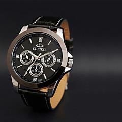 preiswerte Tolle Angebote auf Uhren-CHENXI® Herrn Armbanduhr Quartz Japanischer Quartz Armbanduhren für den Alltag Leder Band Analog Charme Schwarz - Weiß Schwarz