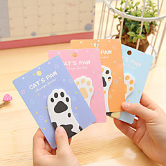 1 PCS Cat's Paw Cute Self-Stick Notes