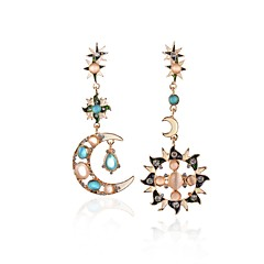 preiswerte Ohrringe-Damen Kristall Nicht übereinstimmend Tropfen-Ohrringe - Opal Einzigartiges Design Gold Für Party / Alltag / Normal