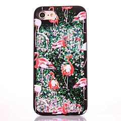 Для Стразы Движущаяся жидкость С узором Кейс для Задняя крышка Кейс для Фламинго Твердый PC для AppleiPhone 7 Plus iPhone 7 iPhone 6s