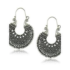 preiswerte Ohrringe-Damen Kreolen - Einzigartiges Design, Retro Silber Für Party / Alltag / Normal