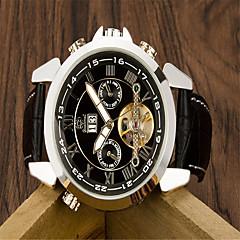 Men's Fashion Watch Quartz Leather Band Casual Black  Automatic mechanical watch