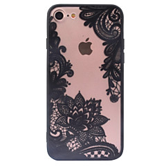 Voor iPhone X iPhone 8 iPhone 6 iPhone 6 Plus iPhone 5 hoesje Hoesje cover Transparant Patroon Achterkantje hoesje Lace Printing Hard PC